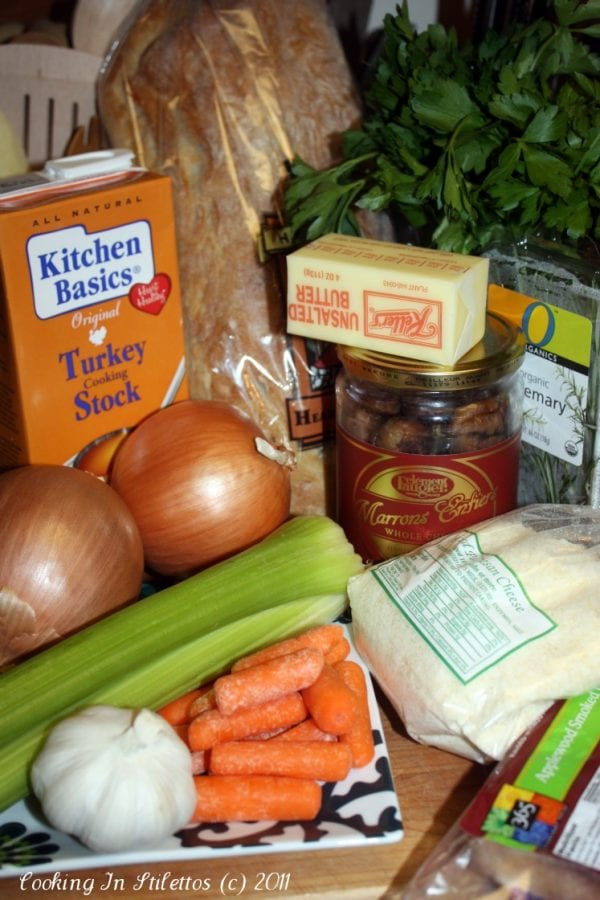 Ciabatta Chestnut Stuffing - Ingredients | CookingInStilettos.com