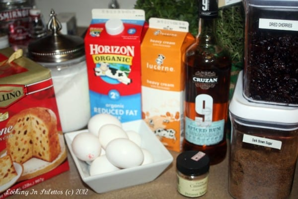 Panettone Bread Pudding - Ingredients