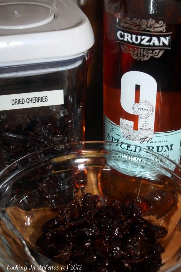 Panettone Bread Pudding - Rum and Cherries