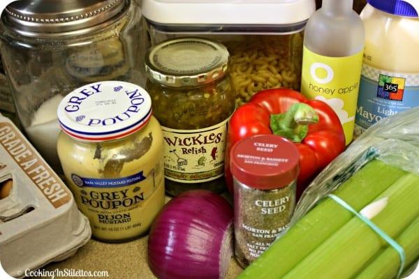 """Not So"" Amish Macaroni Salad - Ingredients| Cooking In Stilettos"