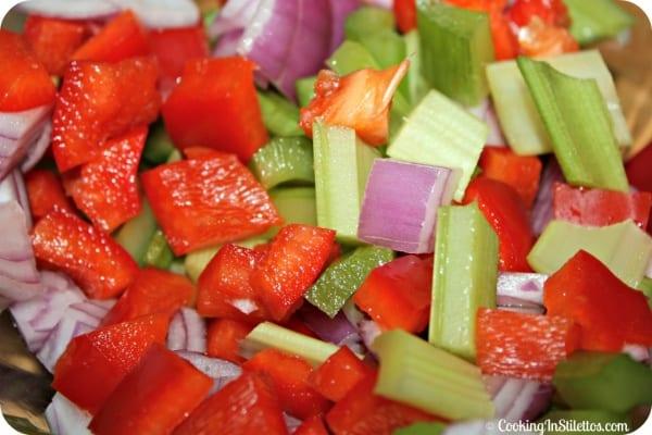 """Not So"" Amish Macaroni Salad -Veggies| Cooking In Stilettos"