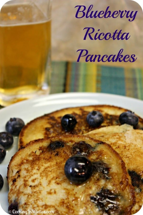 Blueberry Ricotta Pancakes | Cooking In Stilettos