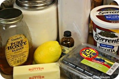 Blueberry Ricotta Pancakes - Ingredients