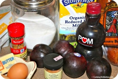 Cinnamon Plum French Toast - Ingredients