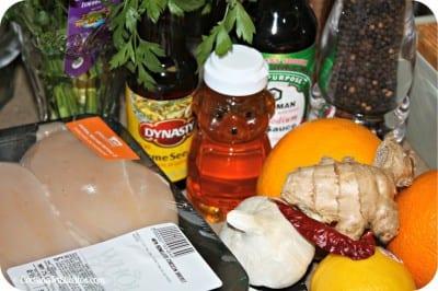 Sesame Ginger Chicken - Ingredients