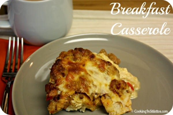 Breakfast Casserole  | Cooking In Stilettos