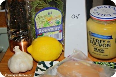 Griled Lemon Rosemary Chicken - Ingredients