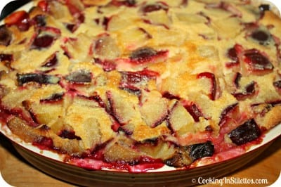 Spiced Plum Clafoutis - Oven Baked