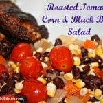 Roasted Tomato Corn and Black Bean Salad