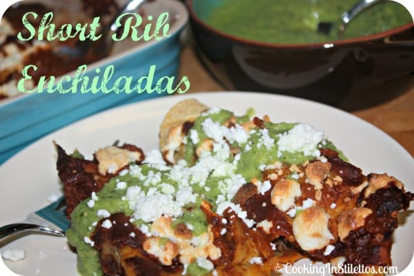 Short Rib Enchiladas | Cooking In Stilettos