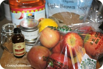 Spiced Apple Butter - Ingredients