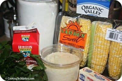 Parmesan Creamed Corn - Ingredients
