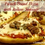Emeril's French Bread Pizza With Italian Sausage is a #SeriousSandwich