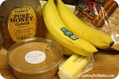 Peanut-Butter-Banana-Honey-Sandwich-Ingredients