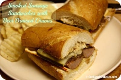 Smoked-Sausage-Sandwich-Beer-Braised-Onions