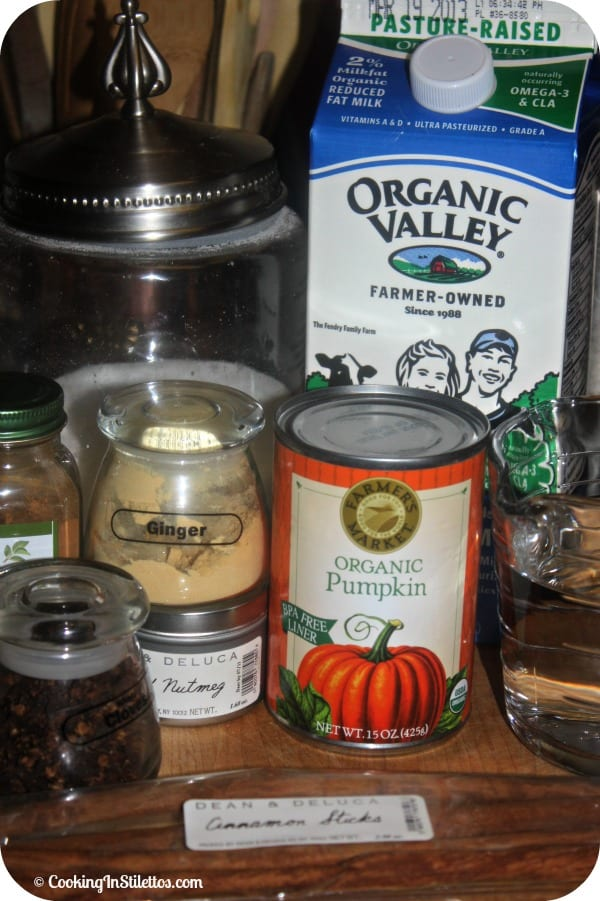 Homemade Pumpkin Spice Latte - Ingredients