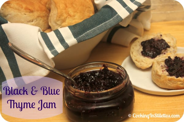 Black and Blue Thyme Jam | Cooking In Stilettos