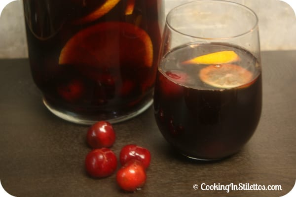 Cherry Sangria | Cooking In Stilettos