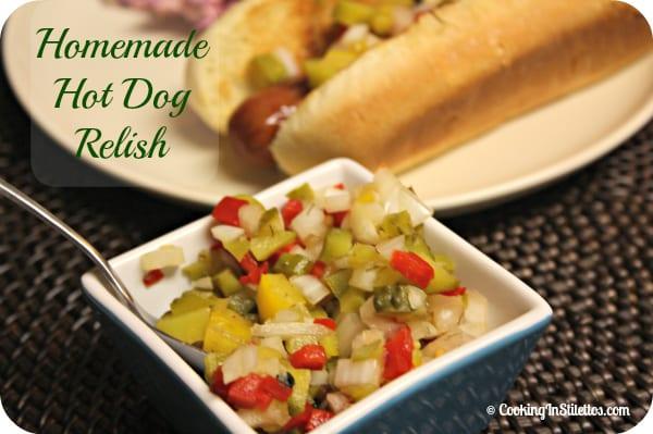 Homemade Hot Dog Relish