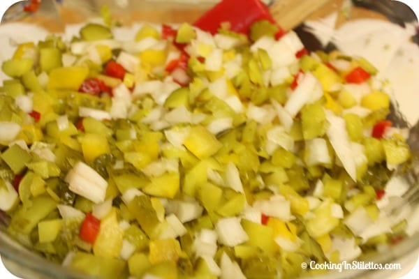 Homemade Hot Dog Relish - Chopped