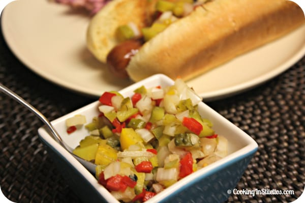 Homemade Hot Dog Relish | Cooking In Stilettos