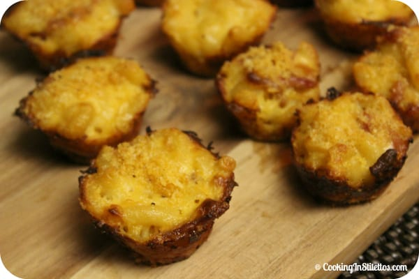 Bacon Mac 'N Cheese Bites | Cooking In Stilettos