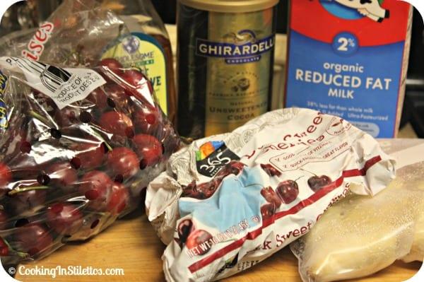 Chocolate Cherry Smoothie - Ingredients