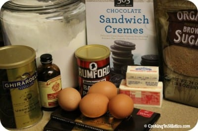 Cookies and Cream Brownies - Ingredients