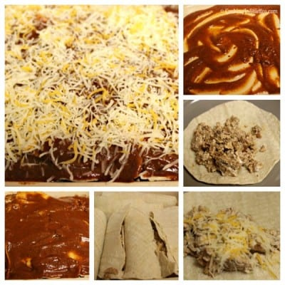 Turkey and Cheese Enchiladas - Assembly