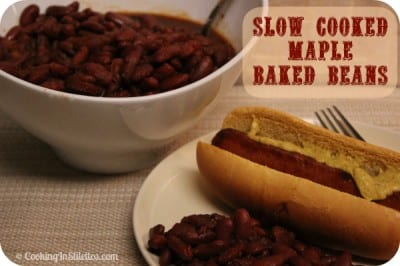 Slow Cooker Maple Baked Beans -