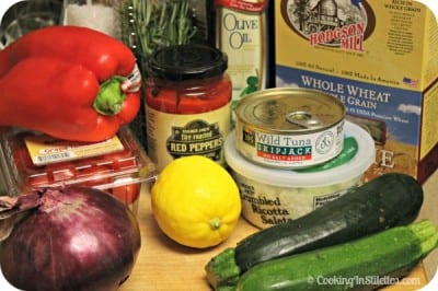Tuna Pasta Salad With Roasted Tuscan Vegetables - Ingredients