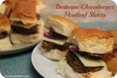 Barbeque Cheeseburger Meatloaf Sliders