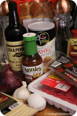 Barbeque Cheeseburger Meatloaf Sliders - Ingredients