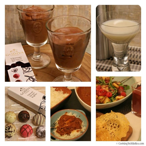 Godiva Girls Night In - Menu