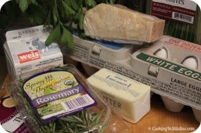 Herb Baked Eggs - Ingredients