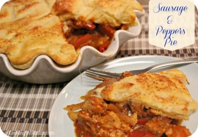 Sausage and Peppers Pie -