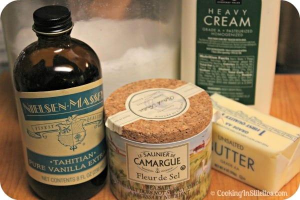 Salted Caramel Sauce - Ingredients