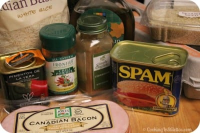 Spam and Eggs - Ingredients