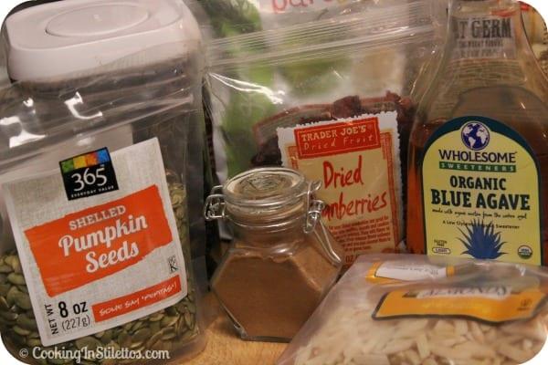 Harvest Granola - Ingredients | Cooking In Stilettos