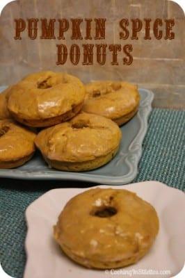 Pumpkin Spice Donuts | Cooking In Stilettos