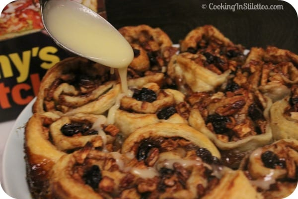 Rustic Loaded Sticky Buns from #SunnysKitchen for #PassTheCookbook Club