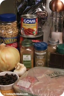 Slow Cooker Chicken Mole - Ingredients | Cooking In Stilettos