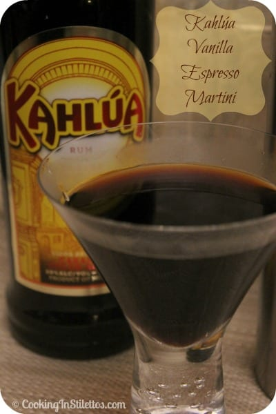 This Kahlúa Vanilla Espresso Martini from CookingInStilettos.com is a chic take on a classic martini. Rich espresso and Kahlúa liquor are shaken to perfection with a touch of vanilla vodka.