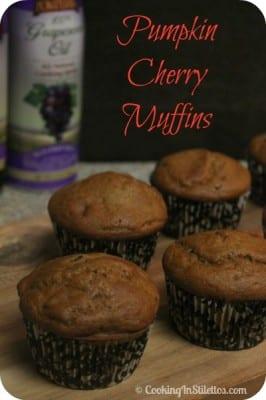 Pumpkin Cherry Muffins | Cooking In Stilettos