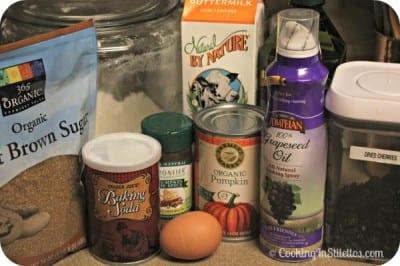 Pumpkin Cherry Muffins - Ingredients | Cooking In Stilettos
