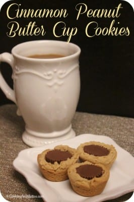Cinnamon Peanut Butter Cup Cookies | Cooking In Stilettos