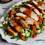 Grilled Barbecue Chicken Salad with Smoky Barbecue Vinaigrette #Evergriller #Sponsored