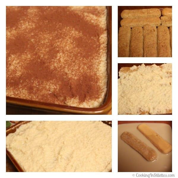 Irish Cream Tiramisu - Assembly   Cooking In Stilettos
