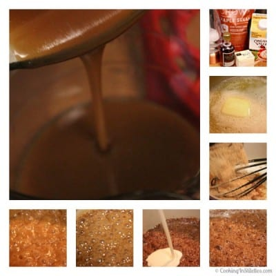 Maple Apple Cheddar Crisp with Satled Maple Caramel Sauce - Making the Caramel Sauce | Cooking In Stilettos