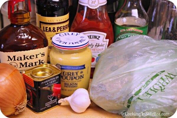Bourbon Pulled Pork Sliders - Ingredients | Cooking In Stilettos